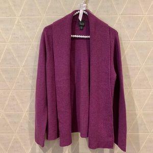 Eileen Fisher merino wool cardigan purple S